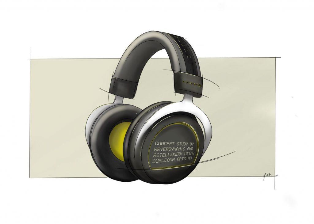 Hier das  Rendering des aptX HD Kopfhörers