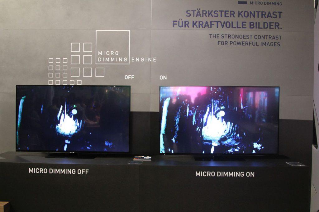 Dank Microdimming soll die Schwarzwiedergabe auch auf herkömmlichen LCD-Geräten profitieren, was auf dem Stand sehr gut funktionierte