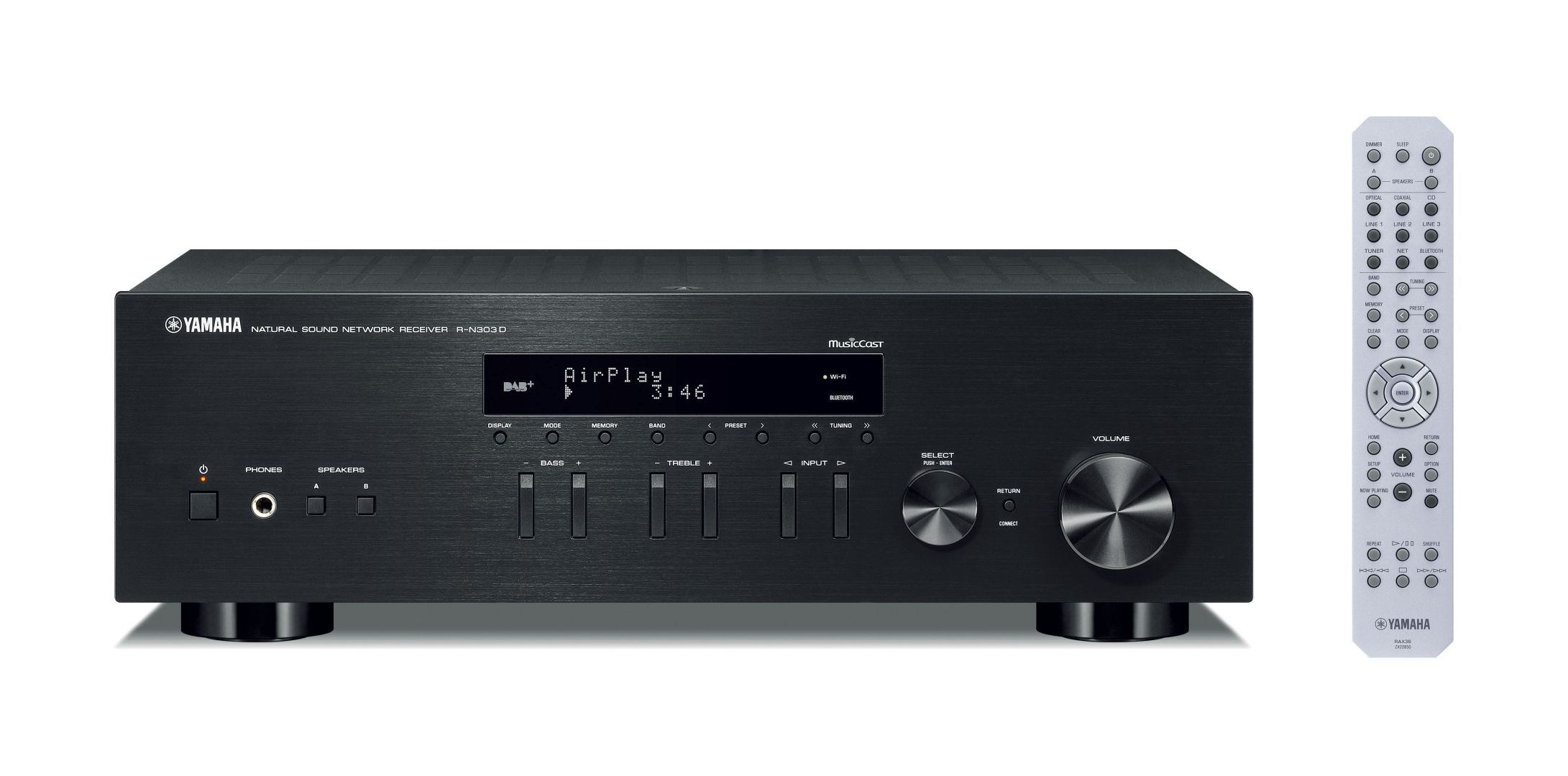 yamaha r n303d einsteiger stereo netzwerk receiver mit. Black Bedroom Furniture Sets. Home Design Ideas