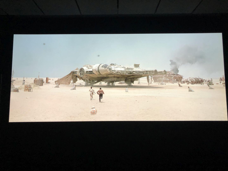 So kann man Filme genießen, hier Star Wars Episode 7
